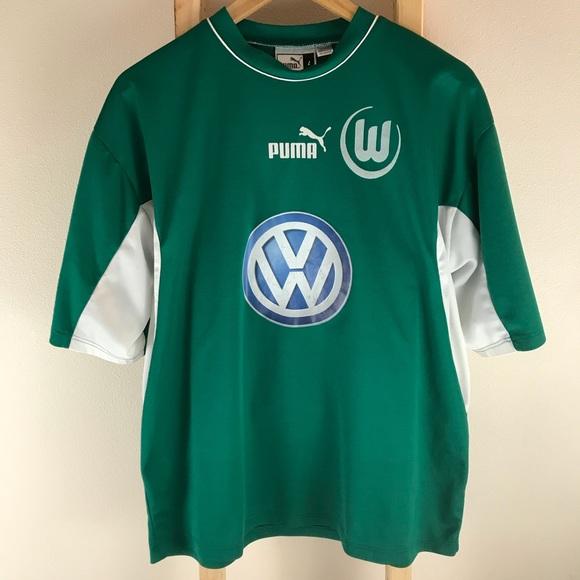 on sale b6415 d37d9 VTG Puma + VW + VFL Wolfsburg Soccer Jersey SZ LG